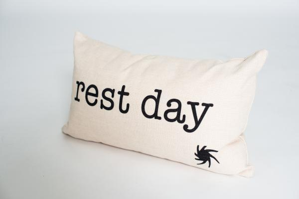 rest day pillow. yoga